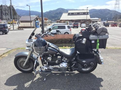 バイクの荷物積載具合