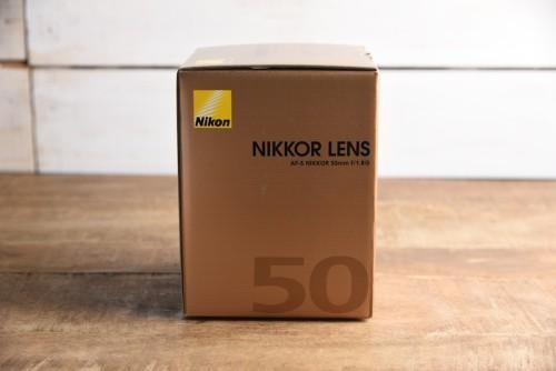 Nikon AF-S NIKKOR 50mm f/1.8Gの箱