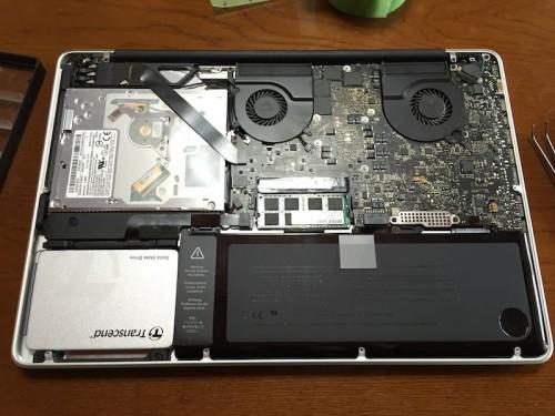 SSD換装したMacBook Pro