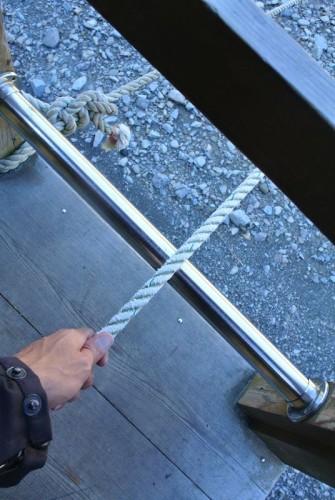 こんな感じでね、ロープをひたすら引っ張るんだよね