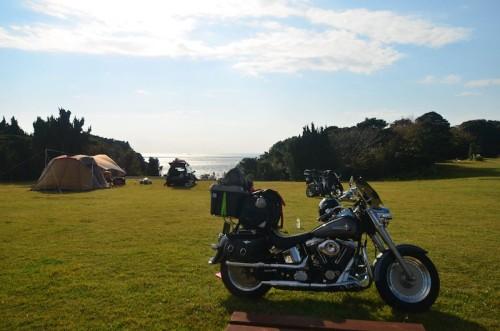 潮岬キャンプ場閉鎖の影響かバイクが多いような気がした