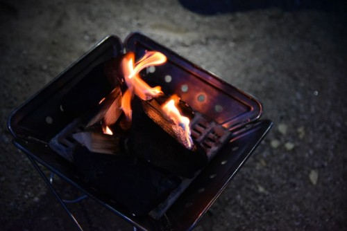 焚き火も楽しんだ