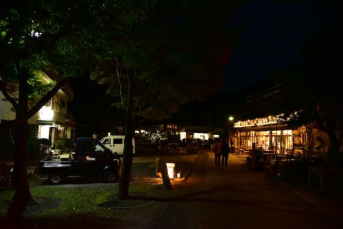 夜の寸又峡温泉街