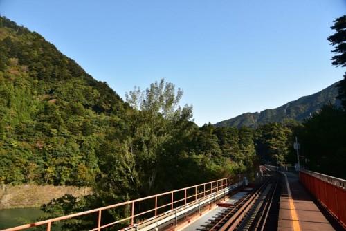 そこから撮った奥大井湖上駅