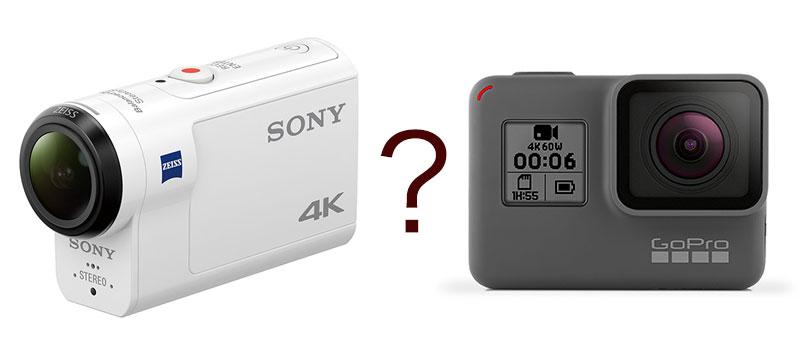 GoPro HERO 6とSony FDR-X3000とを比較してみた
